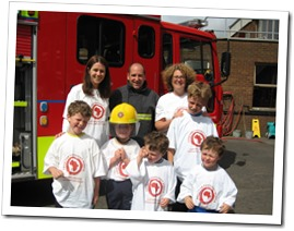 Raising funds with the help of the fire brigade